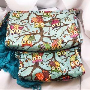 NICK & NORA Owl Cosmetics Travel Bag Set